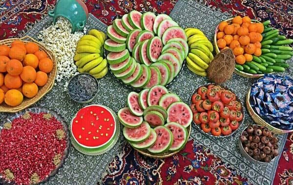 خوراکی های شب یلدا