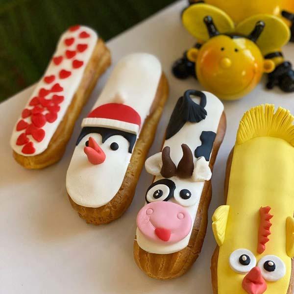 اکلر شیرینی خامه ای فرانسوی