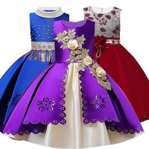 لباس مجلسی خوشگل دخترونه دامن دو طبقه