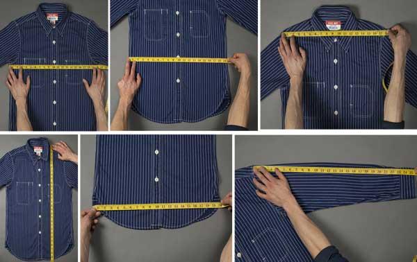 اندازه گیری پیراهن برای خرید بدون پرو