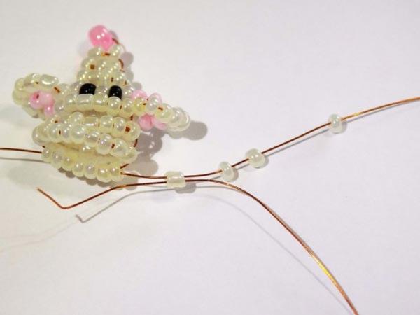 بافت عروسک موش با منجوق