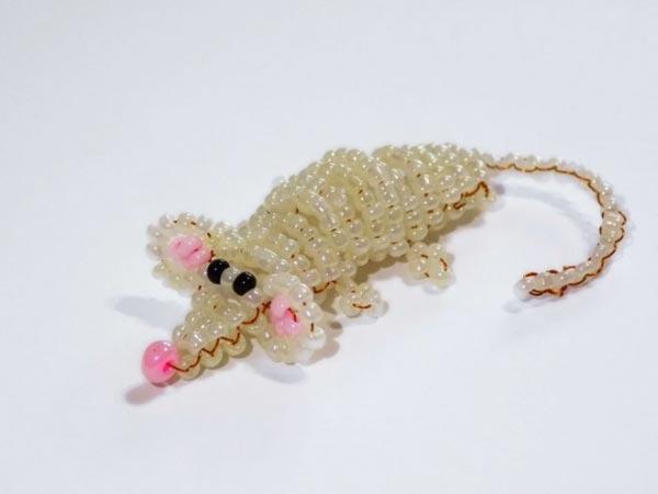 آموزش ساخت عروسک موش مهره بافی