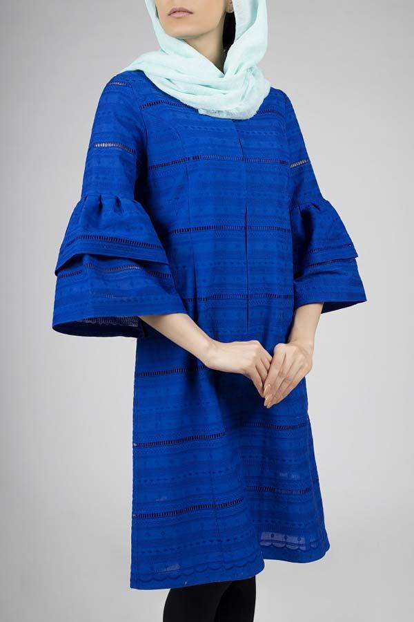 مانتو آبی دخترانه