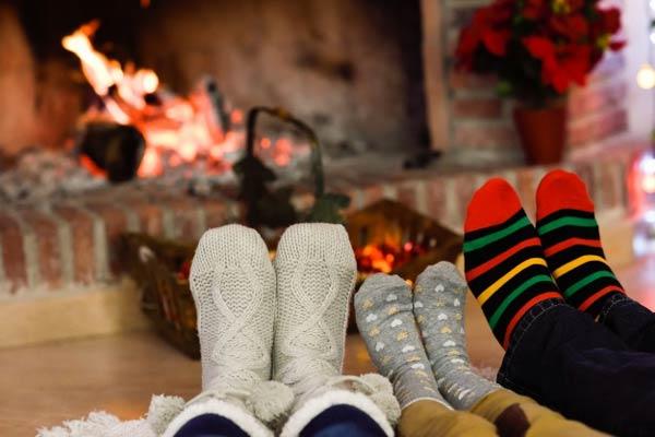 گرم نگهداشتن پاها