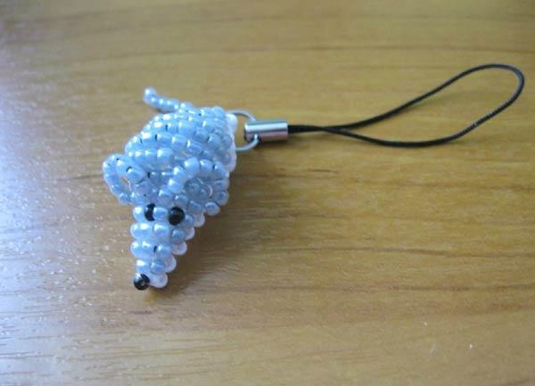 عروسک موش منجوق بافی