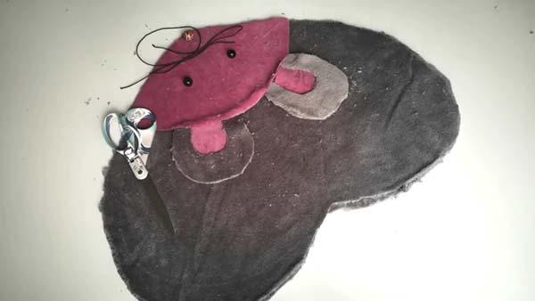 کوسن مخملی موش