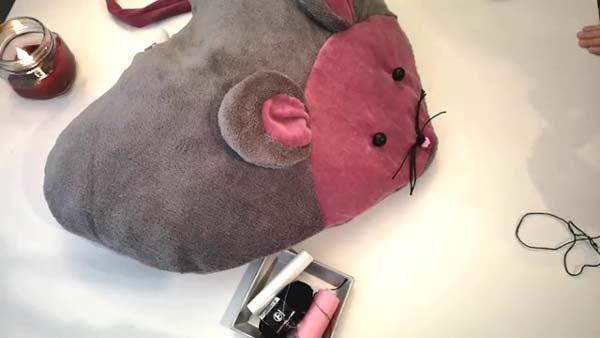 کوسن موش قلبی شکل مخملی