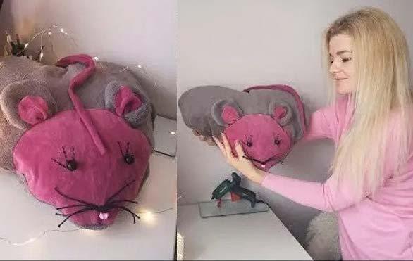 آموزش دوخت کوسن موش قلبی شکل