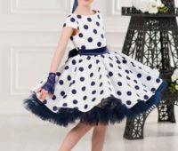 لباس مجلسی خوشگل دخترونه سفید مشکی خالدار