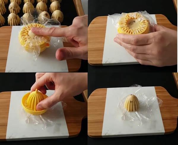 قالب زدن شیرینی کشمشی ترکیه ای