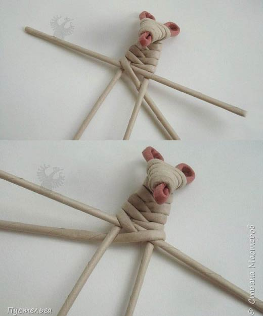 درست کردن موش با کاغذ