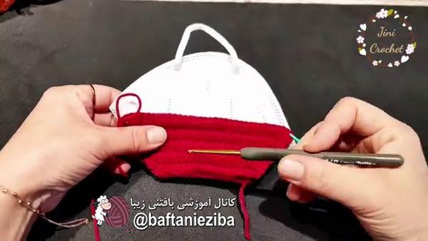 روش بافتن ماسک با قلاب