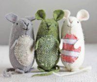 آموزش دوخت عروسک موش پارچه ای