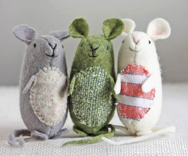 عروسک موش پارچه ای