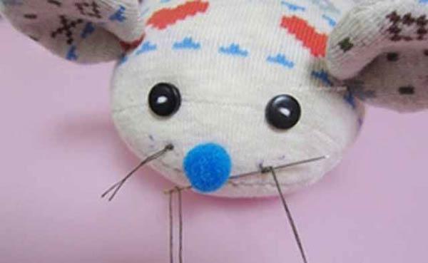 وخت عروسک موش با جوراب