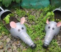 گلدان به شکل موش , ظرف سبزه به شکل موش با بطری
