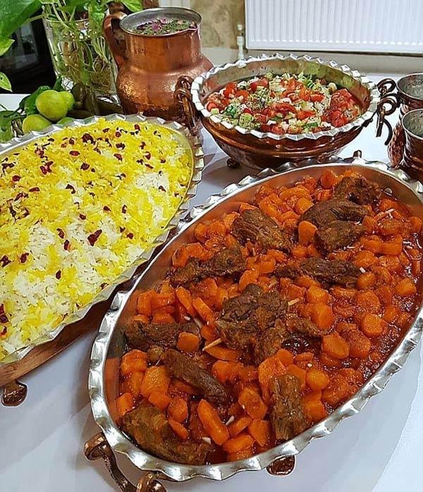 خورش هویج و آلوی تبریزی