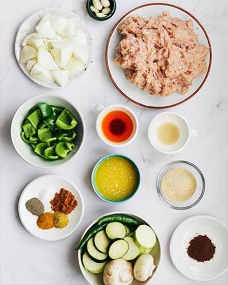 مواد لازم برای کباب تابه ای مرغ