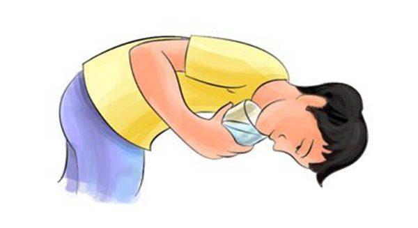 رفع سکسکه نوشیدن آب