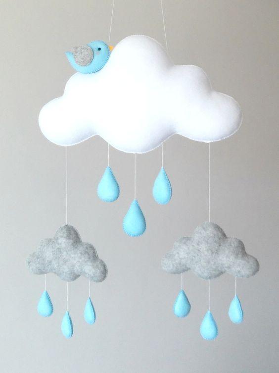 آویز نمدی ابر بارانی