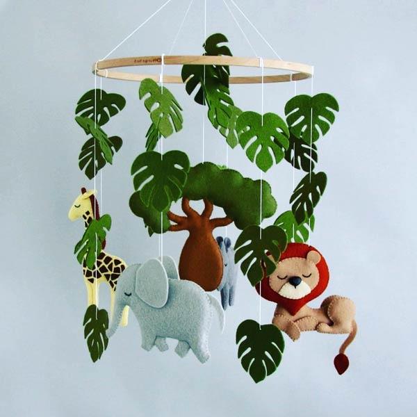 مدل آویز اتاق بچه جنگل حیوانات