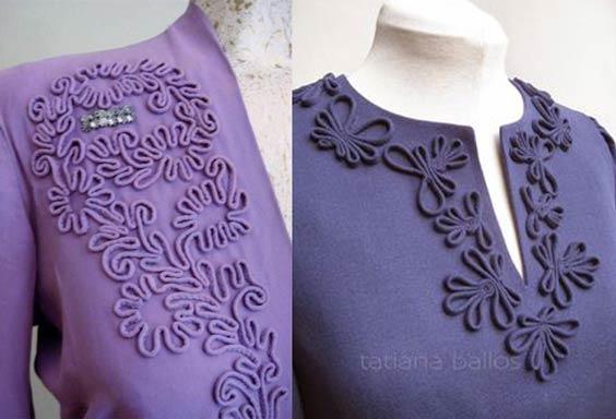ماکارونی دوزی یقه لباس