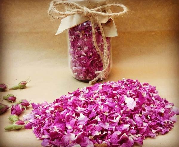 خشک کردن گلبرگ گل محمدی