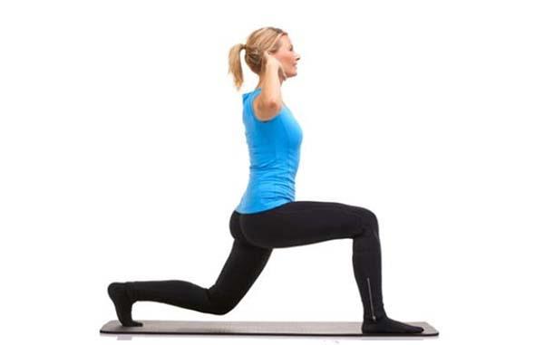 حرکت ورزشی لانگ برای تمرین در خانه