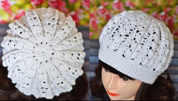 کلاه پفی بافتنی سفید