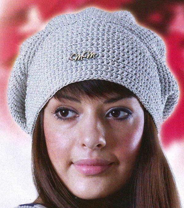 کلاه فرانسوی بافتنی طوسی