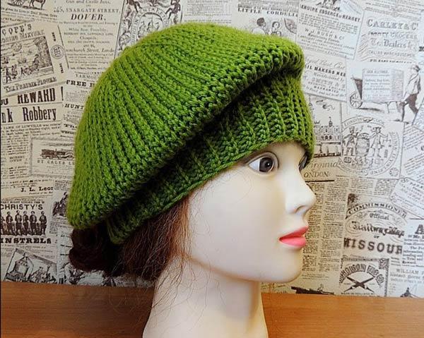 کلاه برت دستباف سبز