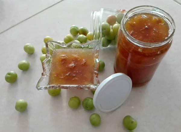 مربای گوجه سبز بدون هسته , مربا آلوچه