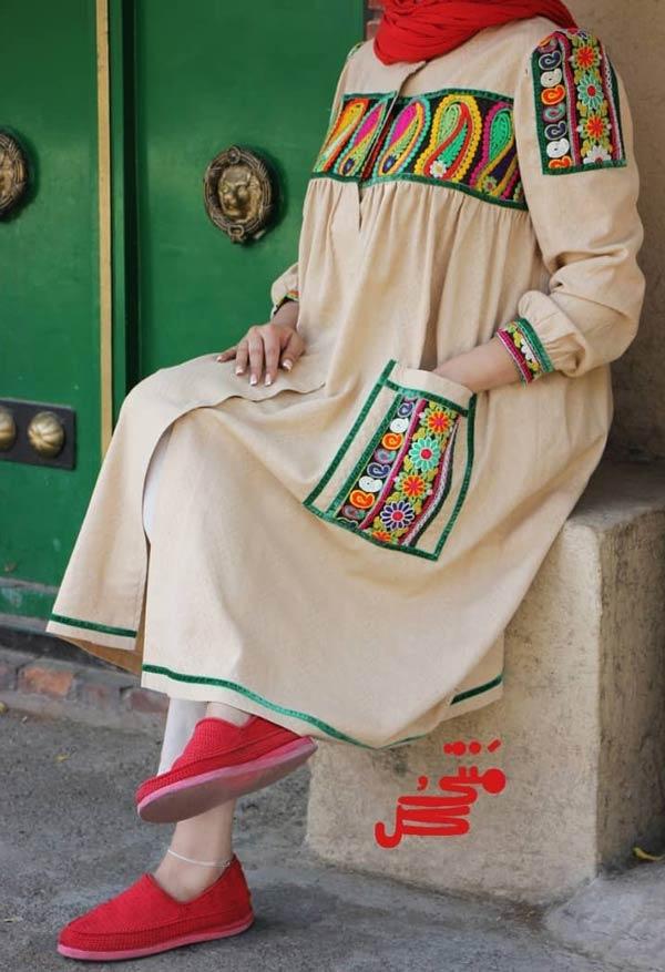مانتو سنتی تابستانی حاملگی