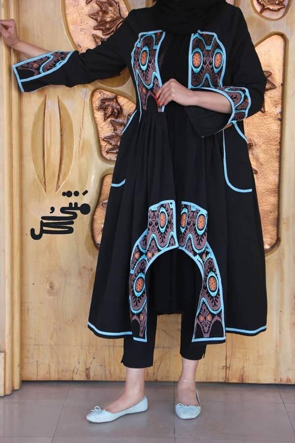 مانتو مشکی سنتی