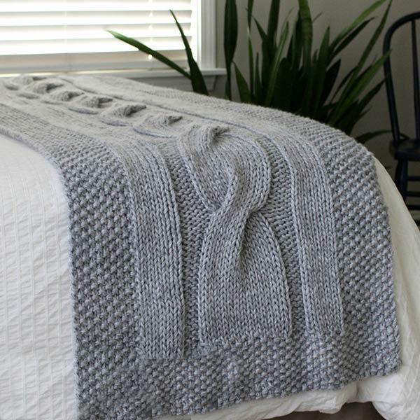 شال تخت میل بافی بافتنی پیچ