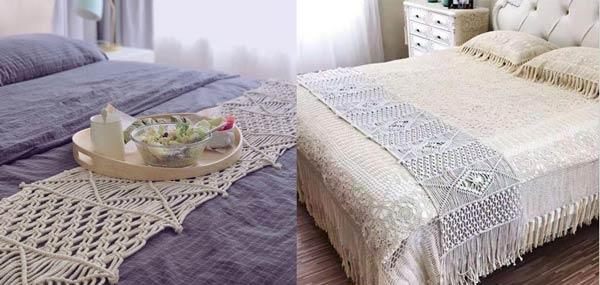 مدل شال تخت مکرومه بافی
