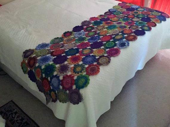 مدل شال تخت قلاب بافی