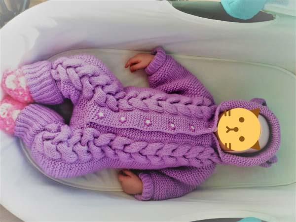 مدل سرهمی نوزاد یاسی رنگ