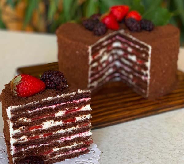 کیک مدوویک کاکائویی