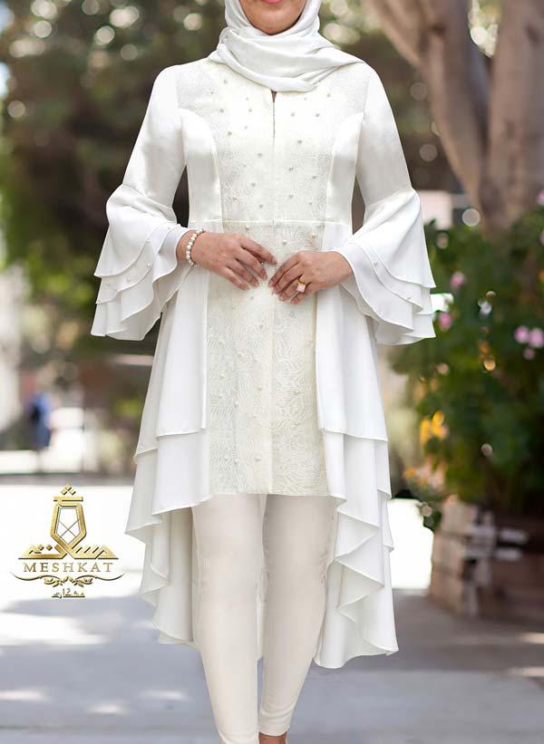 مدل مانتو عروس آستین کلوش