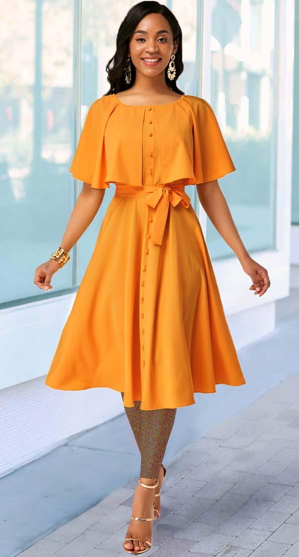 مدل پیراهن زنانه والان دار نارنجی
