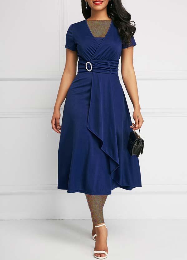 مدل پیراهن زنانه کژال آبی تیره