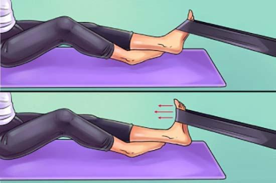 حرکت مقاومتی درمان درد زانو پا بگن