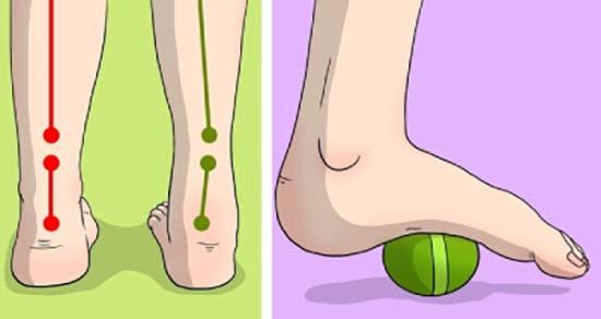 قدم زن روی توپ بهبود درد لگن پا زانو
