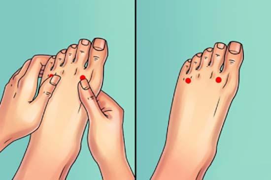 ماساژ پا بهبود درد لگن پا زانو