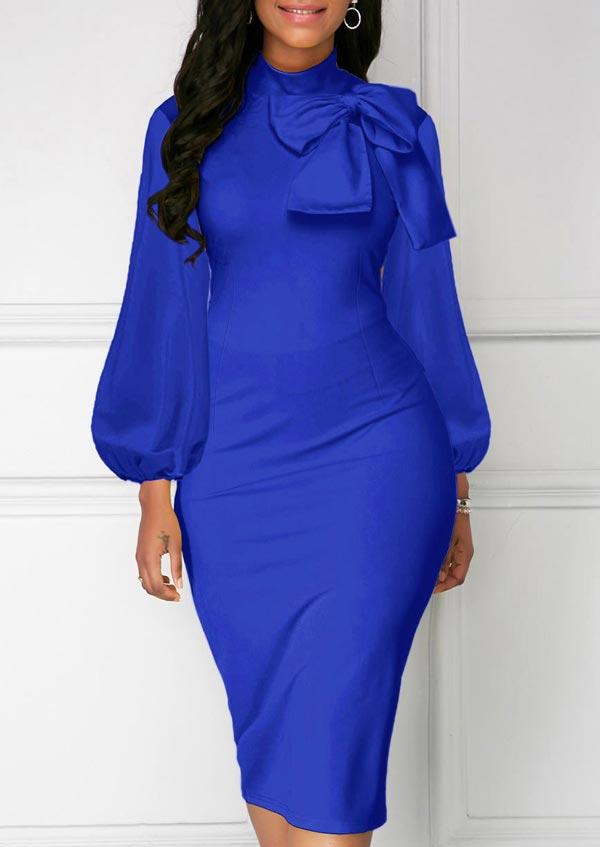 مدل لباس مجلسی آبی کاربنی