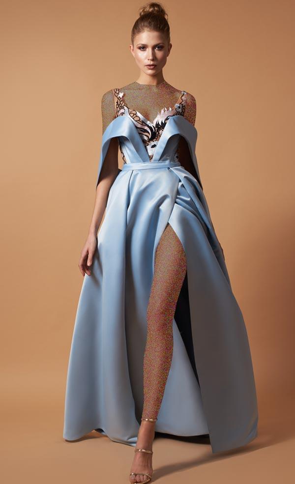 لباس مجلسی آبی روشن