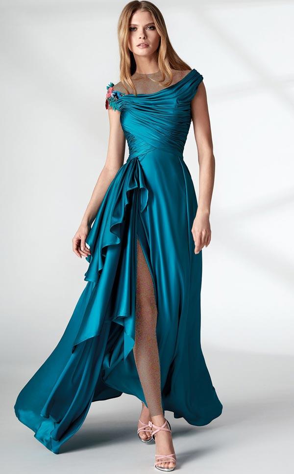 لباس مجلسی شب آبی