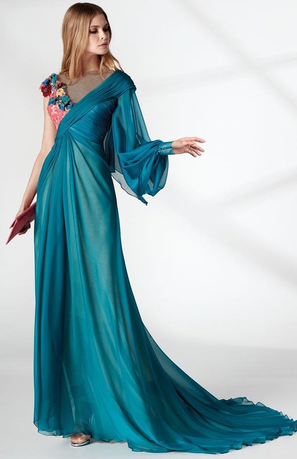 مدل لباس مجلسی شب آبی