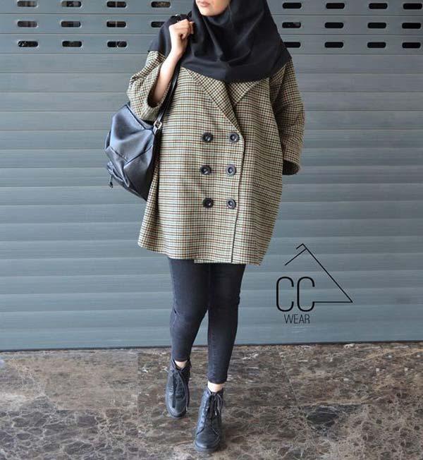 مانتو دانشجویی کوتاه دخترانه پاییزه